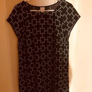 Black Dress with white squares.